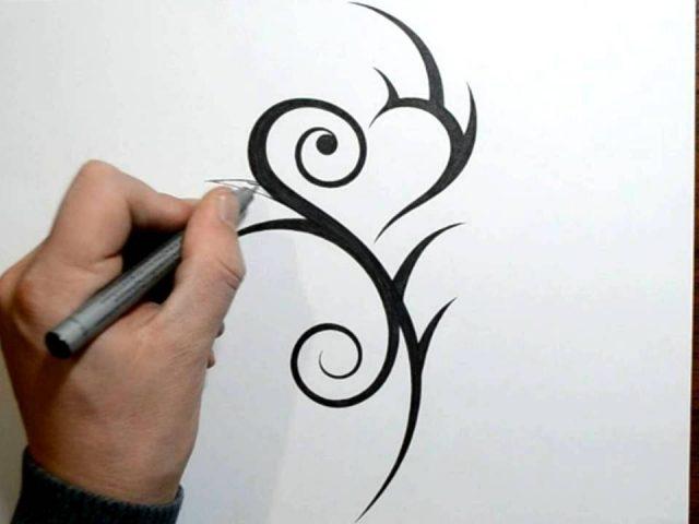 640x480 Feminine Tribal Tattoo Designs Drawing A Cool Feminine Tribal