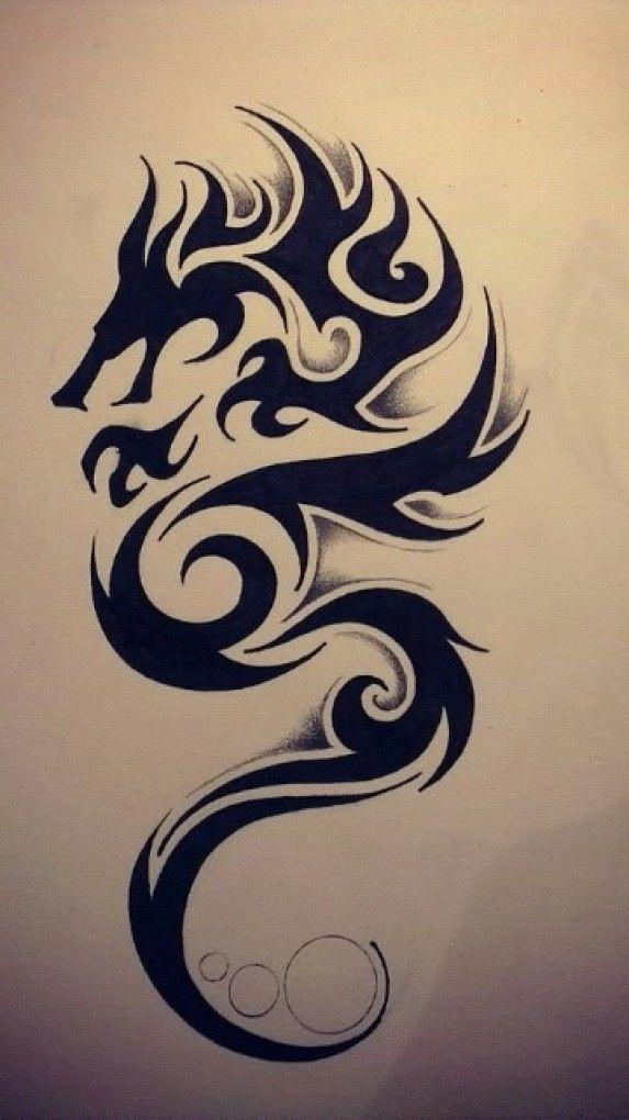 573x1020 Tribal Dragon Tattoo