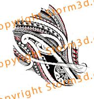 190x200 Maori Lower Arm Design Tribal Drawing By Storm3d Tatau Polynesia