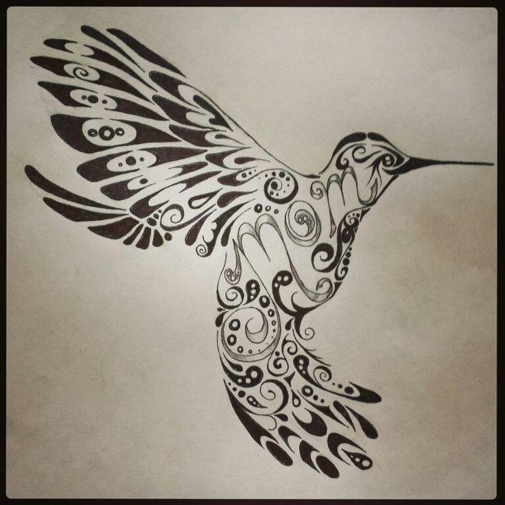 736x736 Tribal Colibri Tattoos