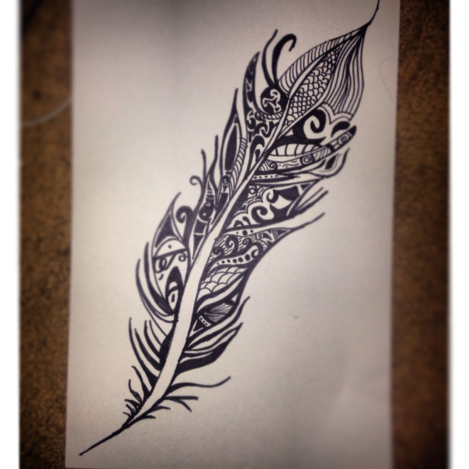 1536x1536 Tribal Feather Sharpie Drawing Designs Sharpie
