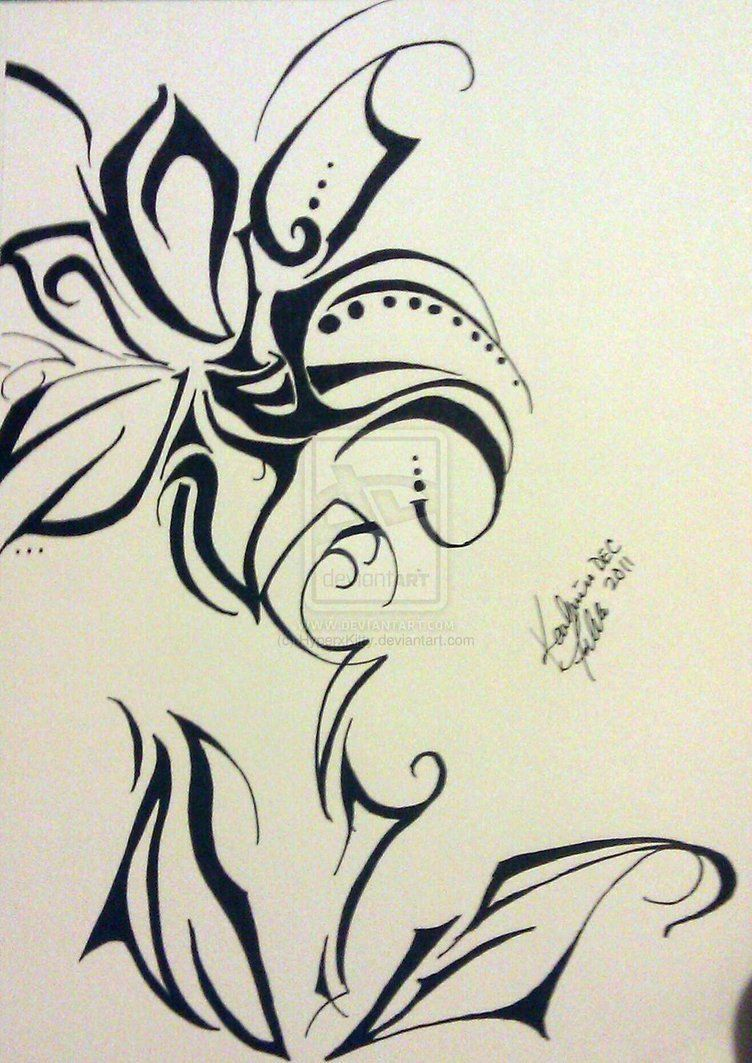 752x1063 Sharpie Tribal Flower K8 Designs