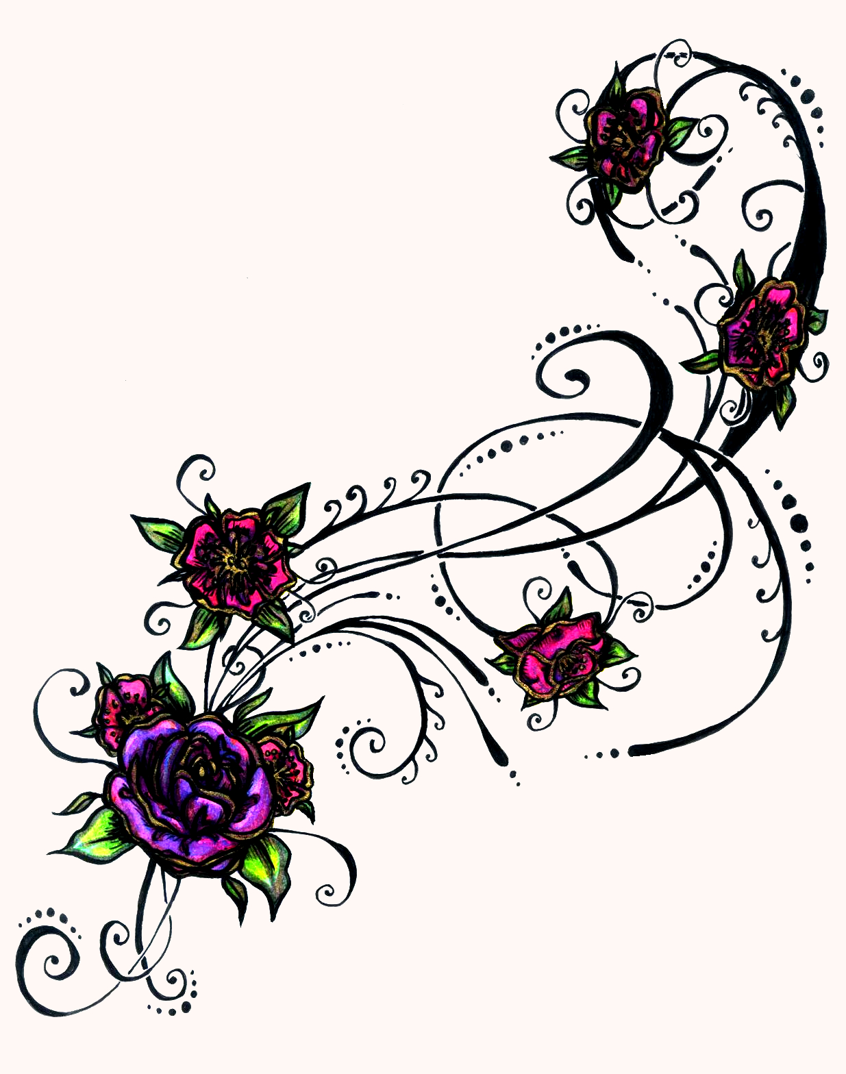 Tribal flower drawing at getdrawings free for personal use 1235x1568 flower tattoos izmirmasajfo Images