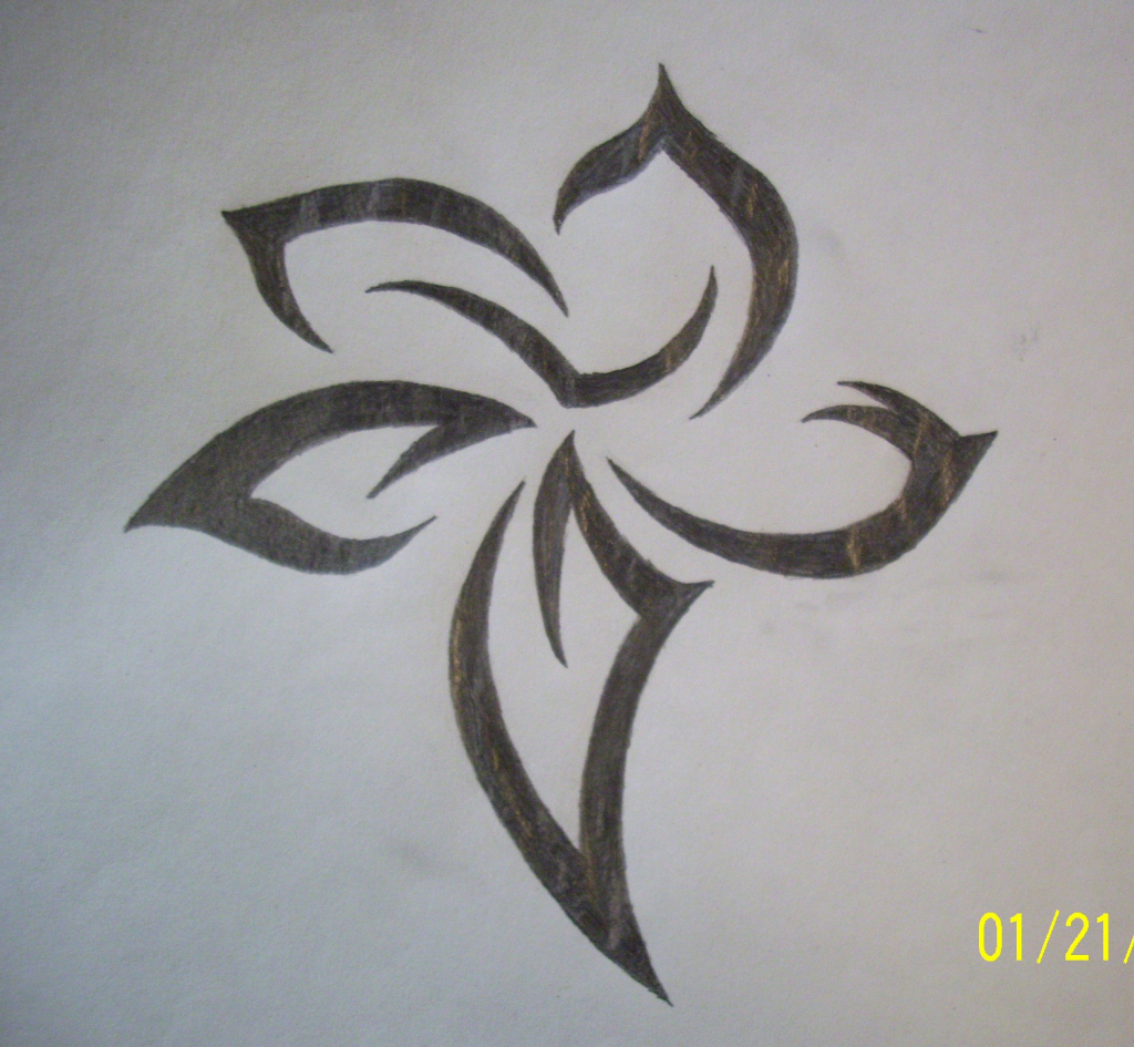 1024x945 Tribal Flower Drawings Flower Tribal Drawing Tribal Flower Drawing