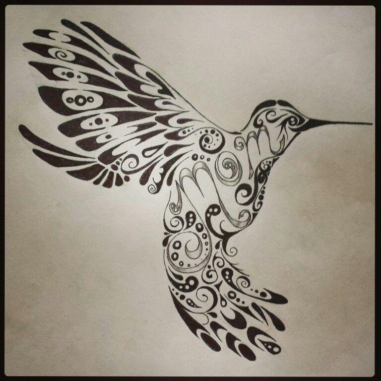 768x768 Hummingbird Tattoo , Mom Tattoo , Tribal Tattoo , Tattoo Design By