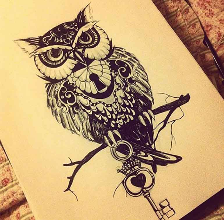 770x755 Owl Tattoo Meaning A Wise Old Owl Owl Tattoo
