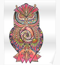210x230 Tribal Owl Drawing Posters Redbubble