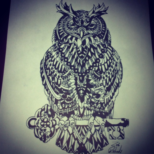 640x640 Drawing Tribal Owl On Instagram