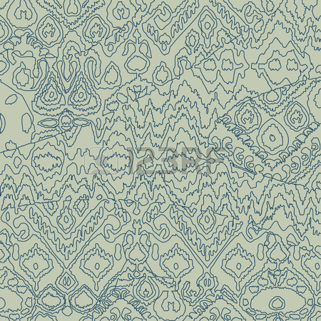 450x450 Ethnic Bohemian Arabesque Pattern Outline Doodle. Zigzag Geometric