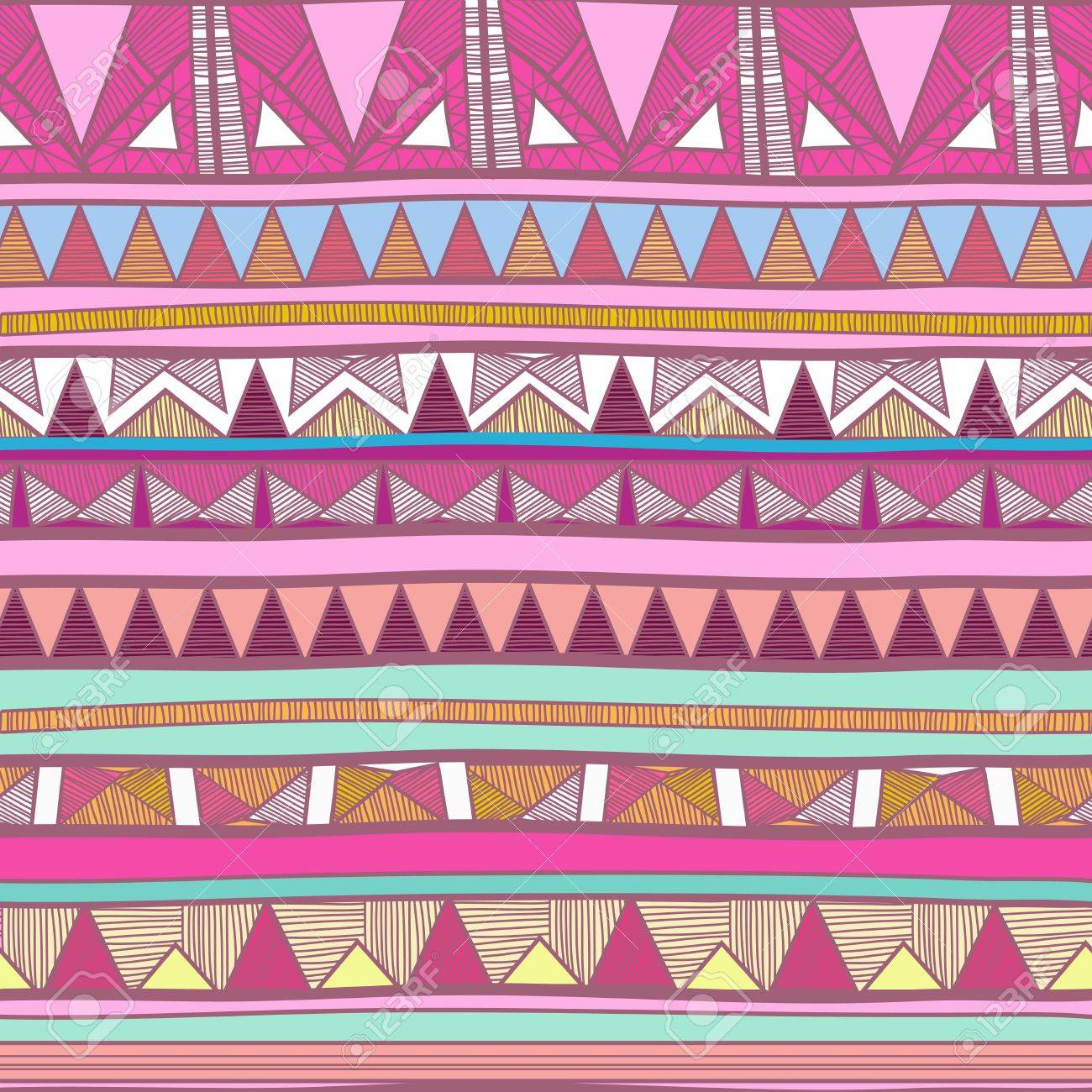 1300x1300 Seamless Background With Drawing Tribal Pattern Royalty Free