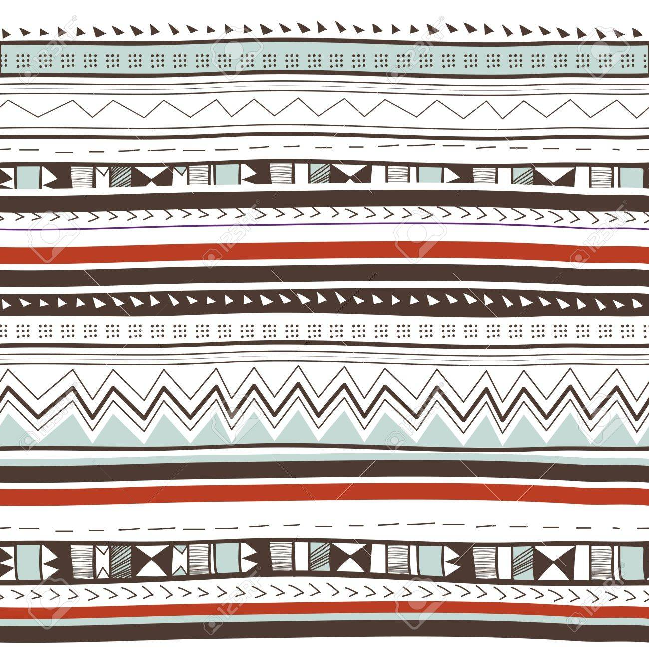 1300x1300 Seamless Vector Background With Drawing Tribal Pattern Royalty