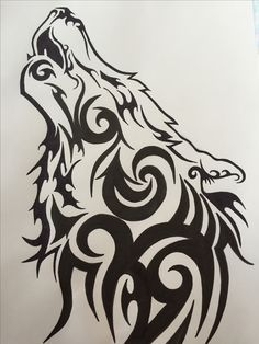 Tribal Wolf Drawing At Getdrawings Com Free For Personal Use
