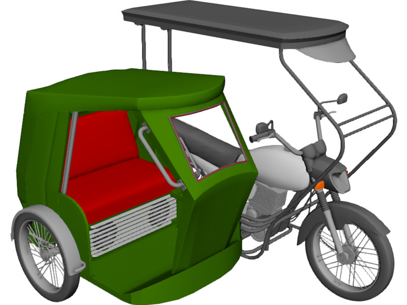 800x600 Tricycle Philippines 3d Model Tricycle 3d, 3d