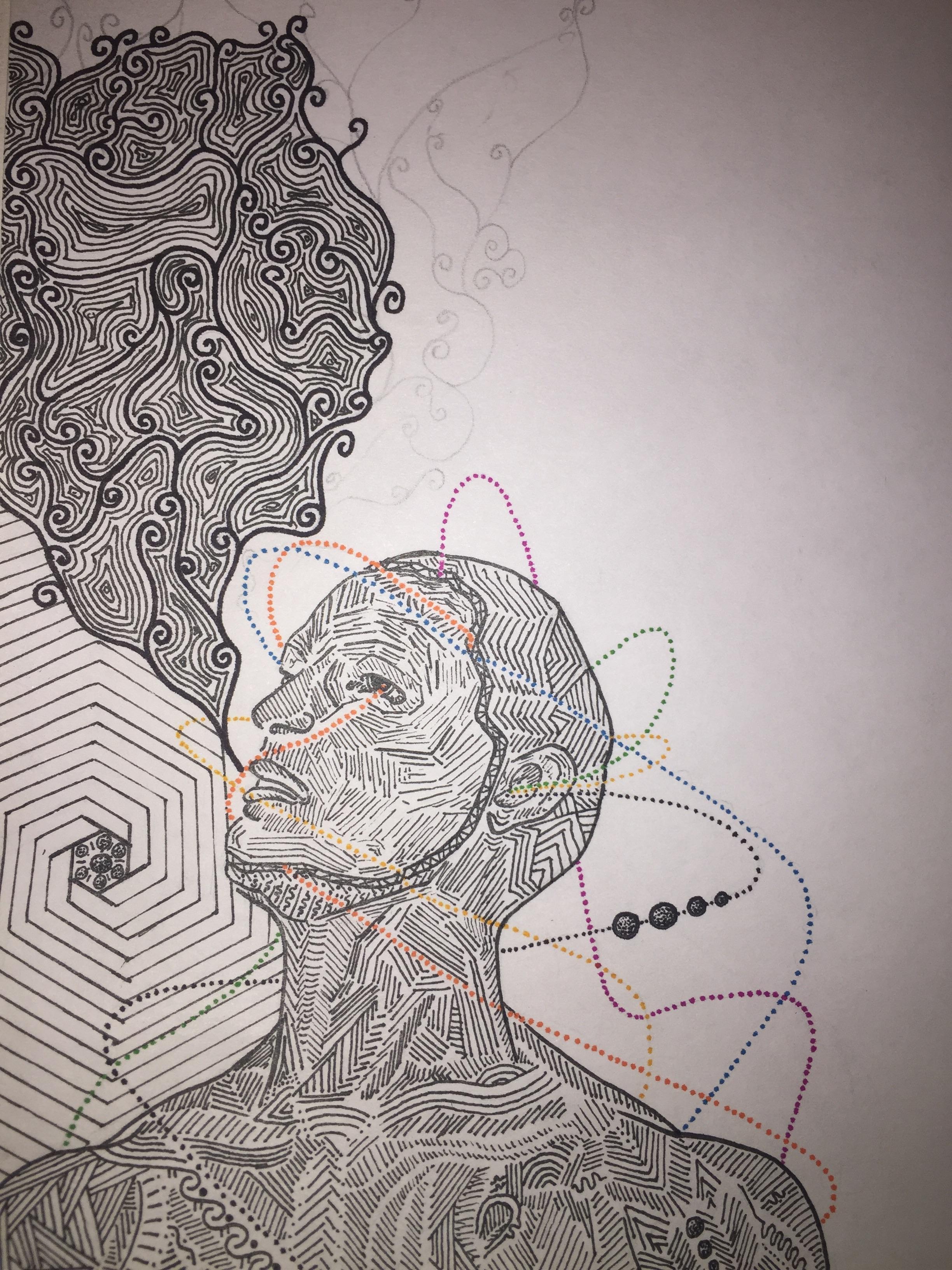 2448x3264 Smoking Weed On Acid [Trip Inspired Drawing] Lsd