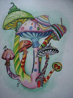 236x314 Magic Mushroom Coloring Pages Cool Trippy Mushroom Drawings