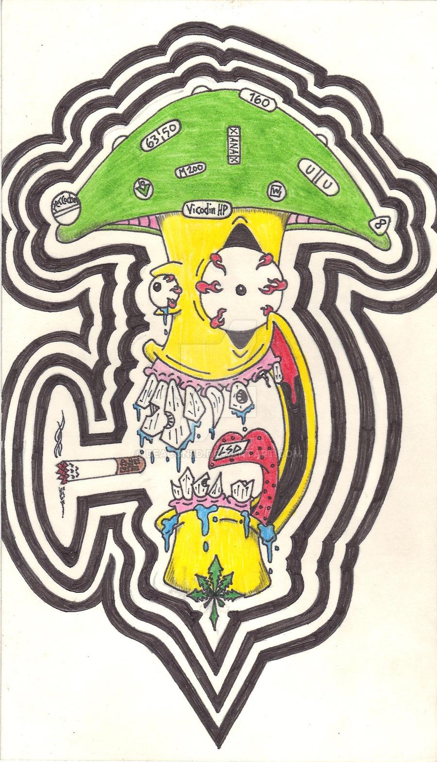 900x1567 Trippy Mushroom Drawings Drawn Mushroom Trippy