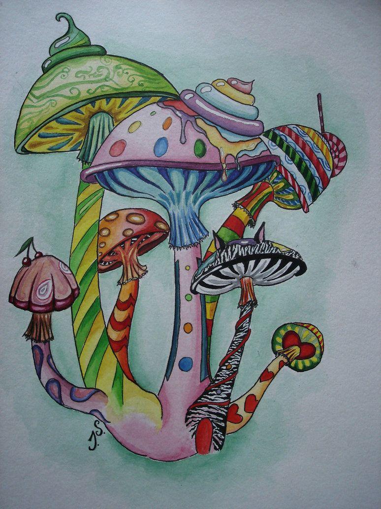 774x1032 Magic Mushroom Drawings Magic Mushrooms By ~suokaralius