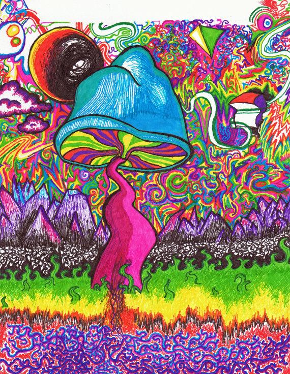 570x736 Shroom Art The Shroom Trippy Art Print