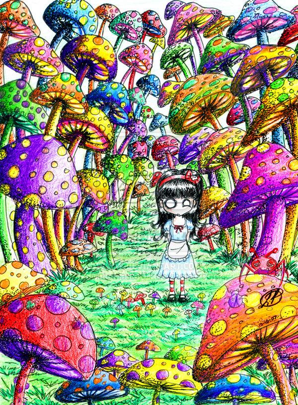 600x816 Trippy Mushroom Drawings Mushroom Land By Mutemaster01