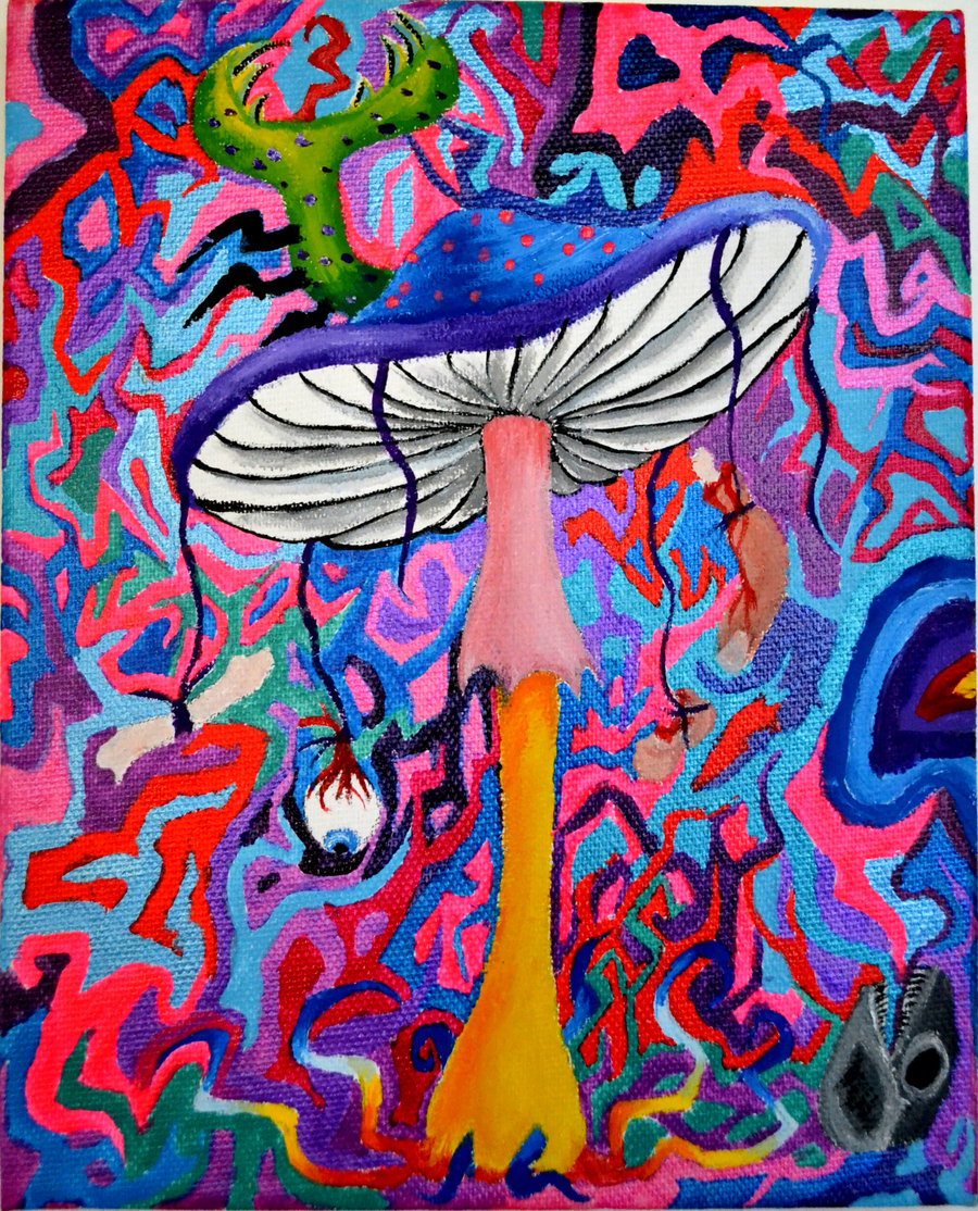 900x1114 Trippy Shroom Wallpaper