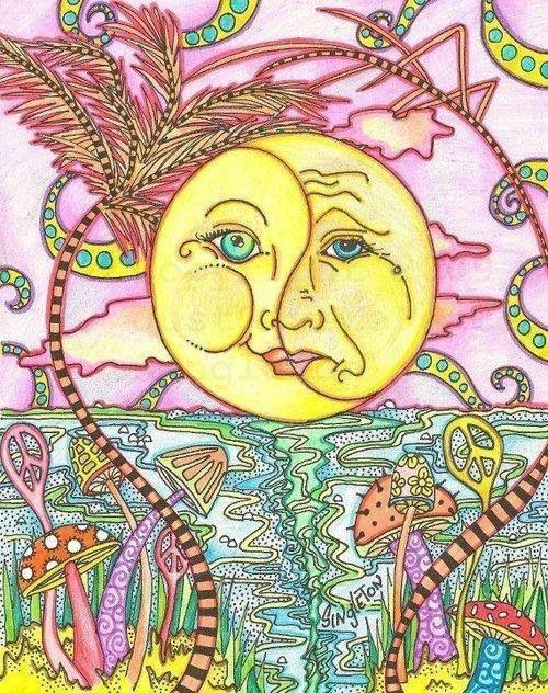 500x632 Beautiful Trippy Sun. Trippy Drawing Ideas