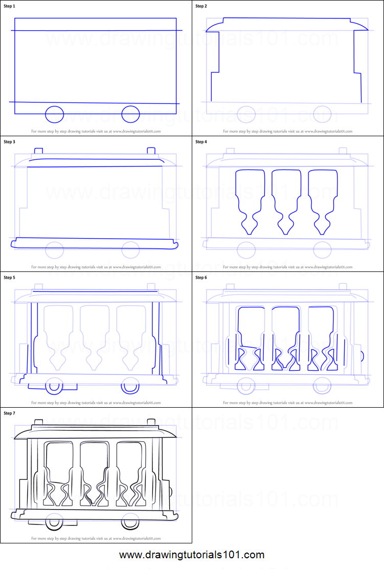 751x1111 How To Draw Trolley From Daniel Tiger's Neighborhood Printable