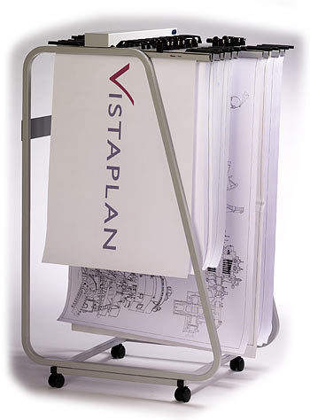 350x474 Vistaplan Front Loading Trolley Carrier For Drawing And Plan Storage