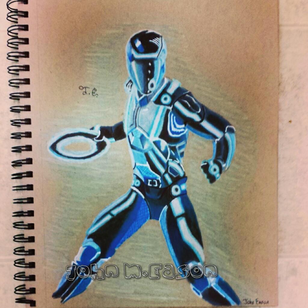 1024x1024 Illustration Of The Movie Tron (Color Pencil) Easonillustrator