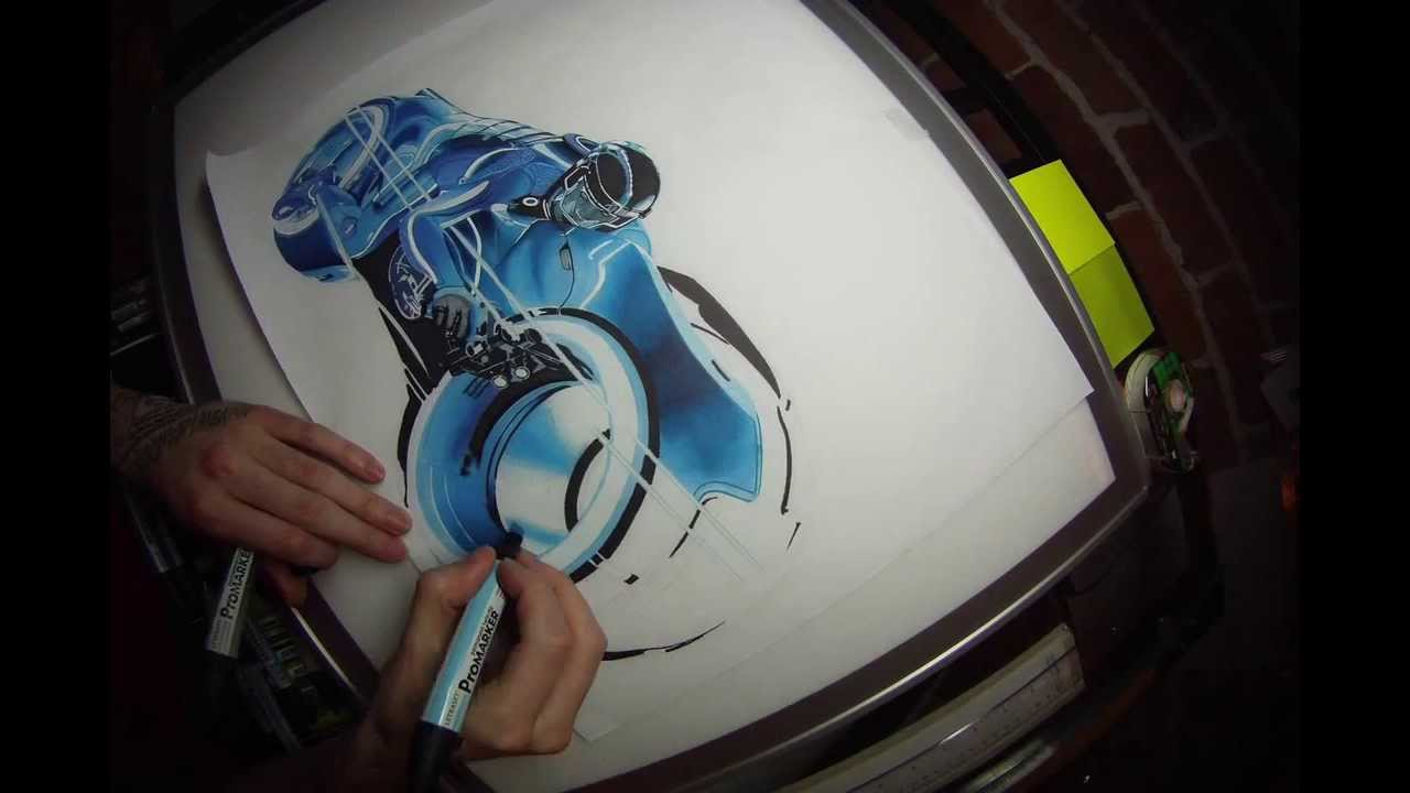 1280x720 TRON Drawing with Promarker 2013