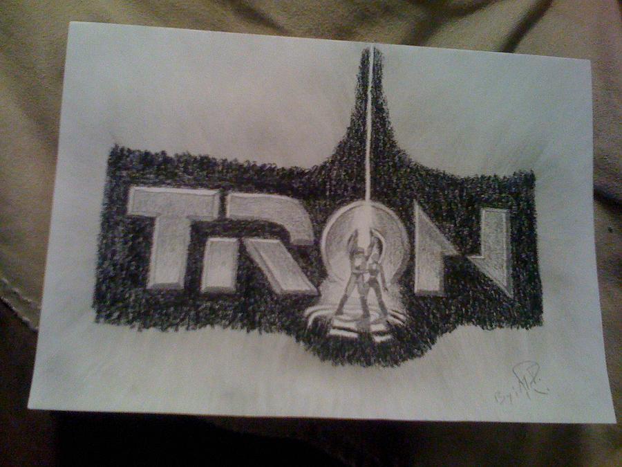 900x675 Tron Drawing by Megan Rhoades