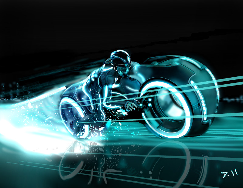 800x620 Tron Legacy Light Bike ← a science fiction Speedpaint drawing by
