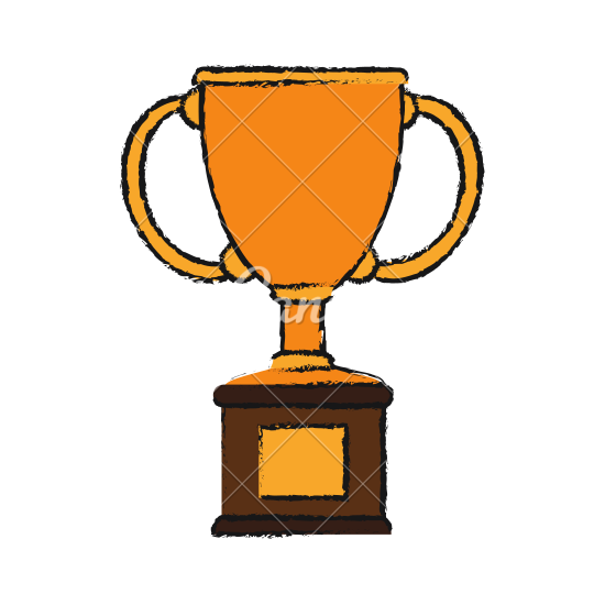 550x550 Trophy Drawing Design