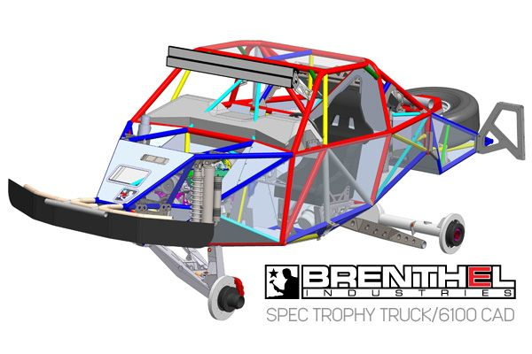 600x400 Cad Drawing, Trophy Truck Chassis, Cad Chassis, Brenthel