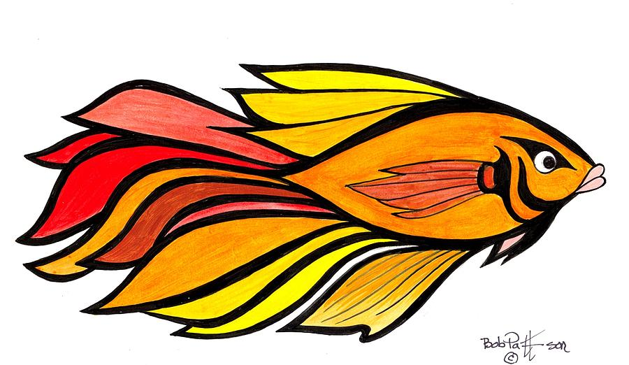 900x522 Fantasy Tropical Fish Painting By Bob Patterson