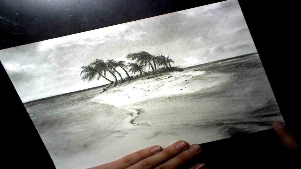 1280x720 Tropical Island Speed Drawing