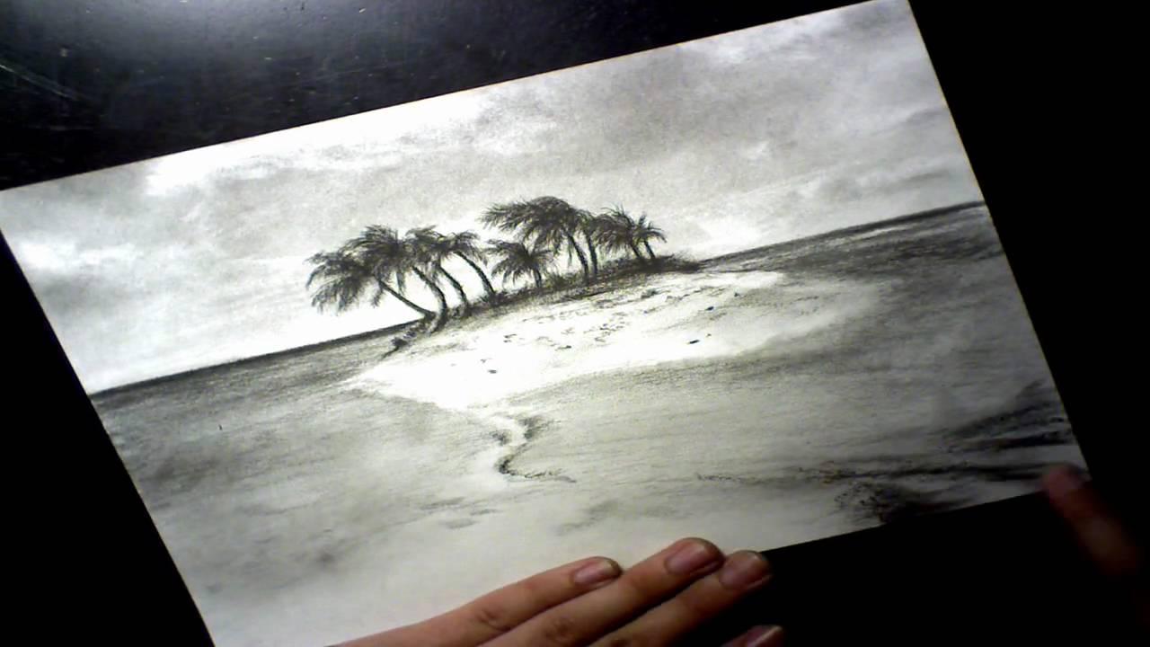 1280x720 Tropical Island Speed Drawing