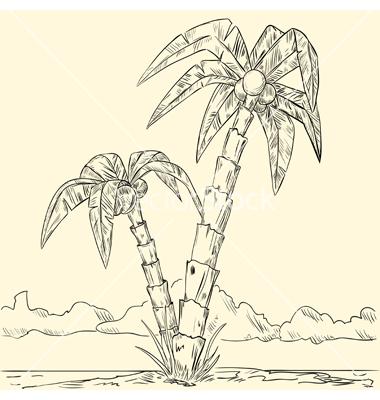 380x400 Tropical Island By Shakerman Tattoo Illustrators
