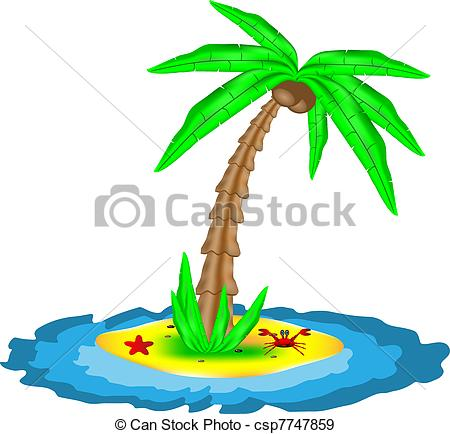 450x434 Tropical Island With Coconut Palm