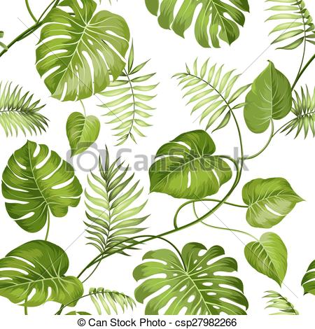 450x470 Tropical Leaves Design. Tropical Leaves Design For Fabric Clip