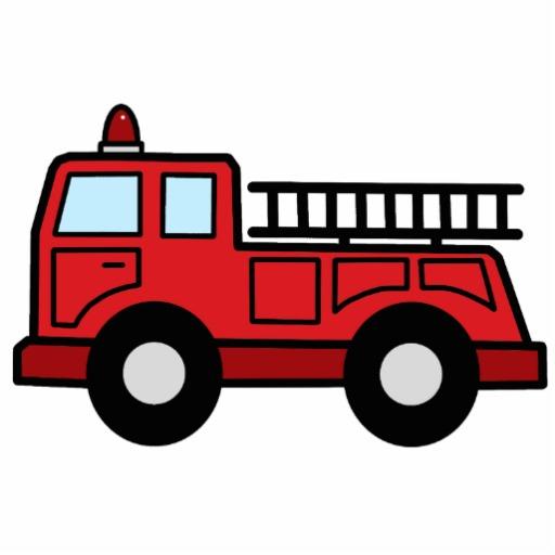512x512 Cartoon Clip Art Firetruck Emergency Vehicle Truck Statuette