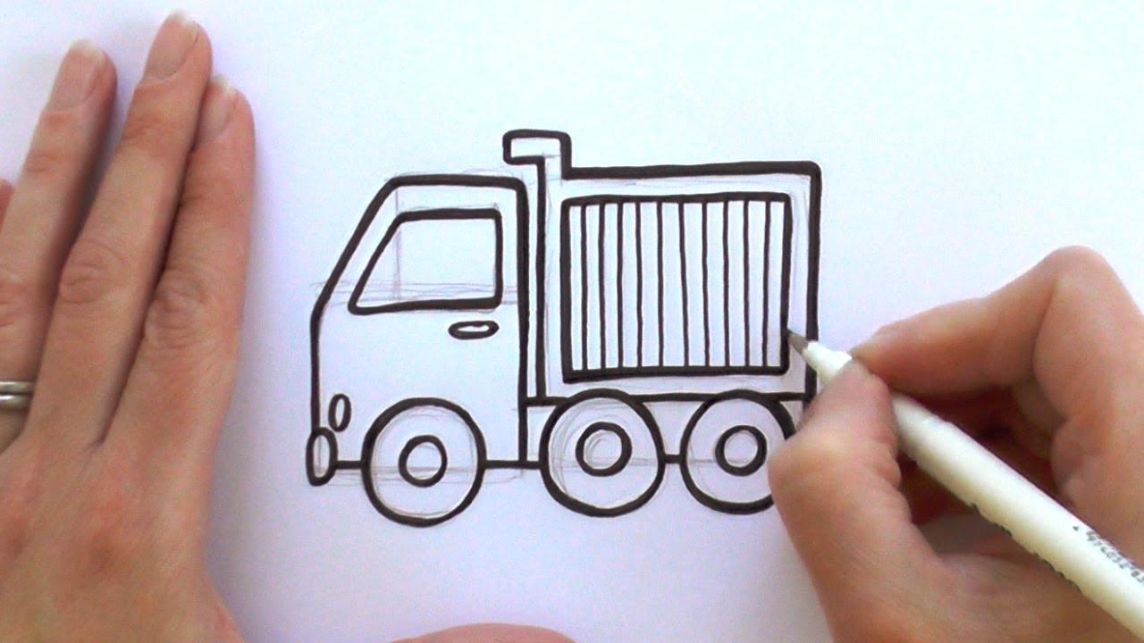 1280x720 How To Draw A Cartoon Dump Truck