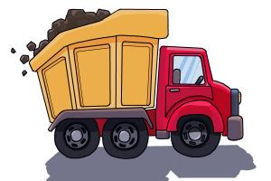 300x200 How To Draw A Dump Truck