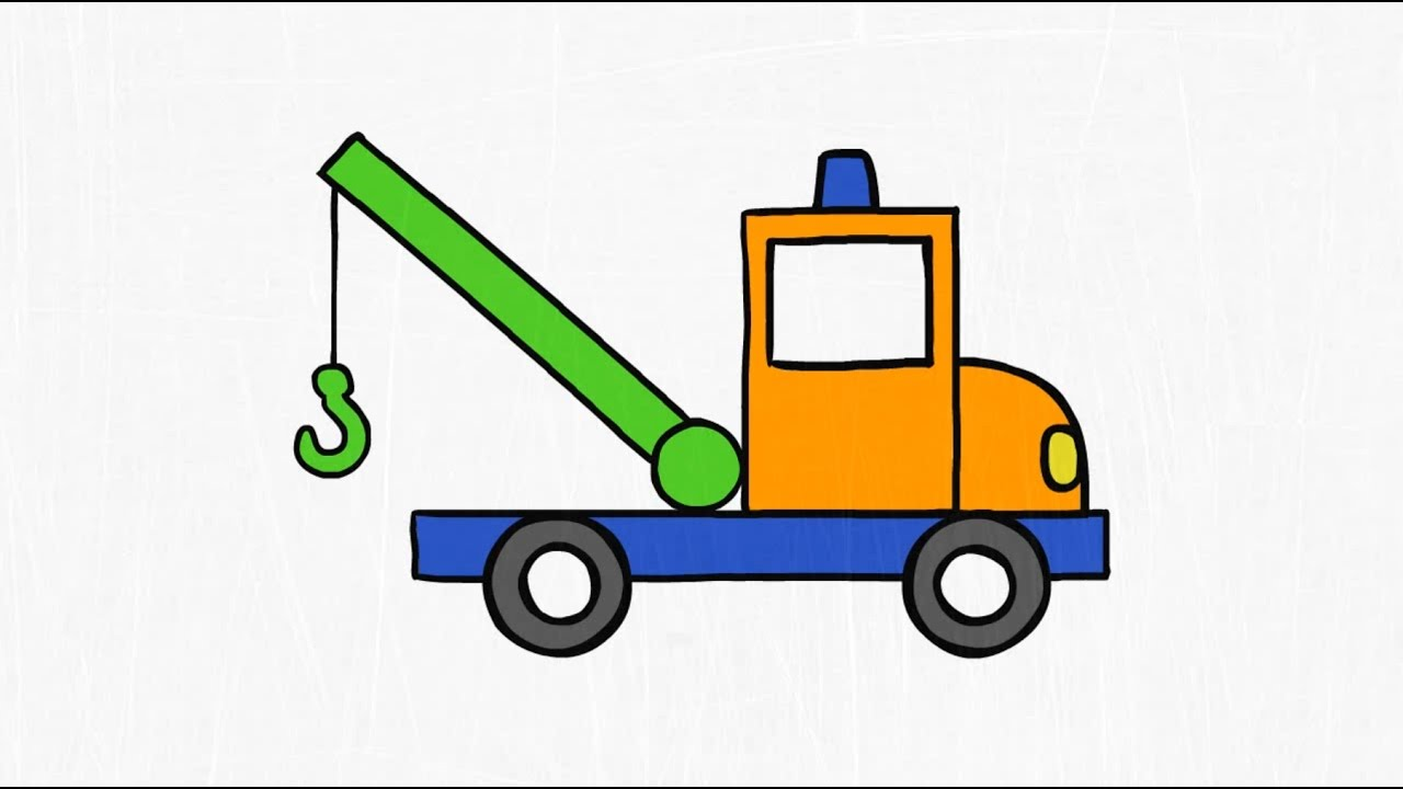 1280x720 How To Draw. A Tow Truck.