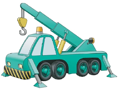400x295 How To Draw Construction Vehicles Cranes Howstuffworks
