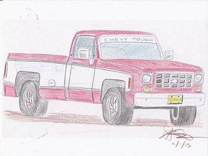 300x225 Custom Truck Drawings Fine Art America