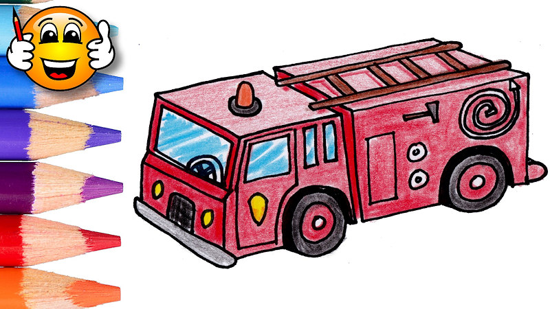 800x450 Coloring Pages For Kids Fire Truck Fire Engine