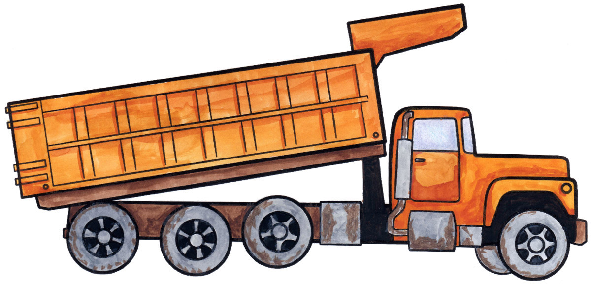 1200x579 How To Draw A Dump Truck. Stuff For Walker Dump