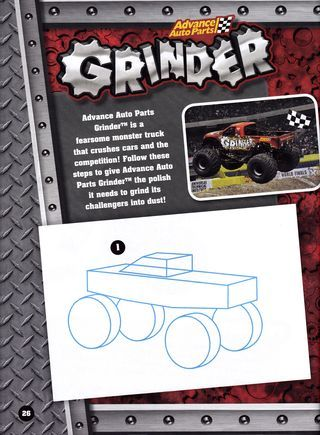 320x435 How To Draw Monster Trucks From The Monster Jam Drawing Amp Activity