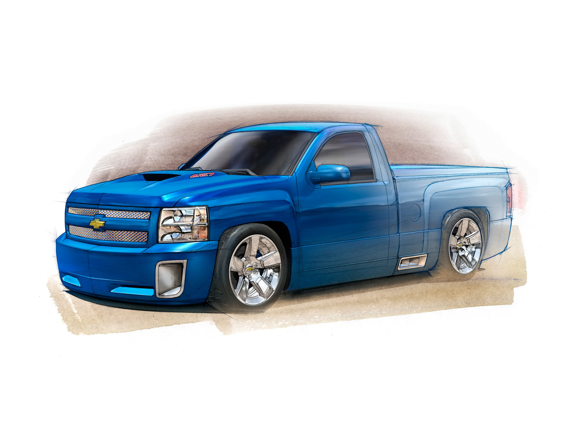 1920x1440 Chevy Truck Drawing Drawn Truck Chevy