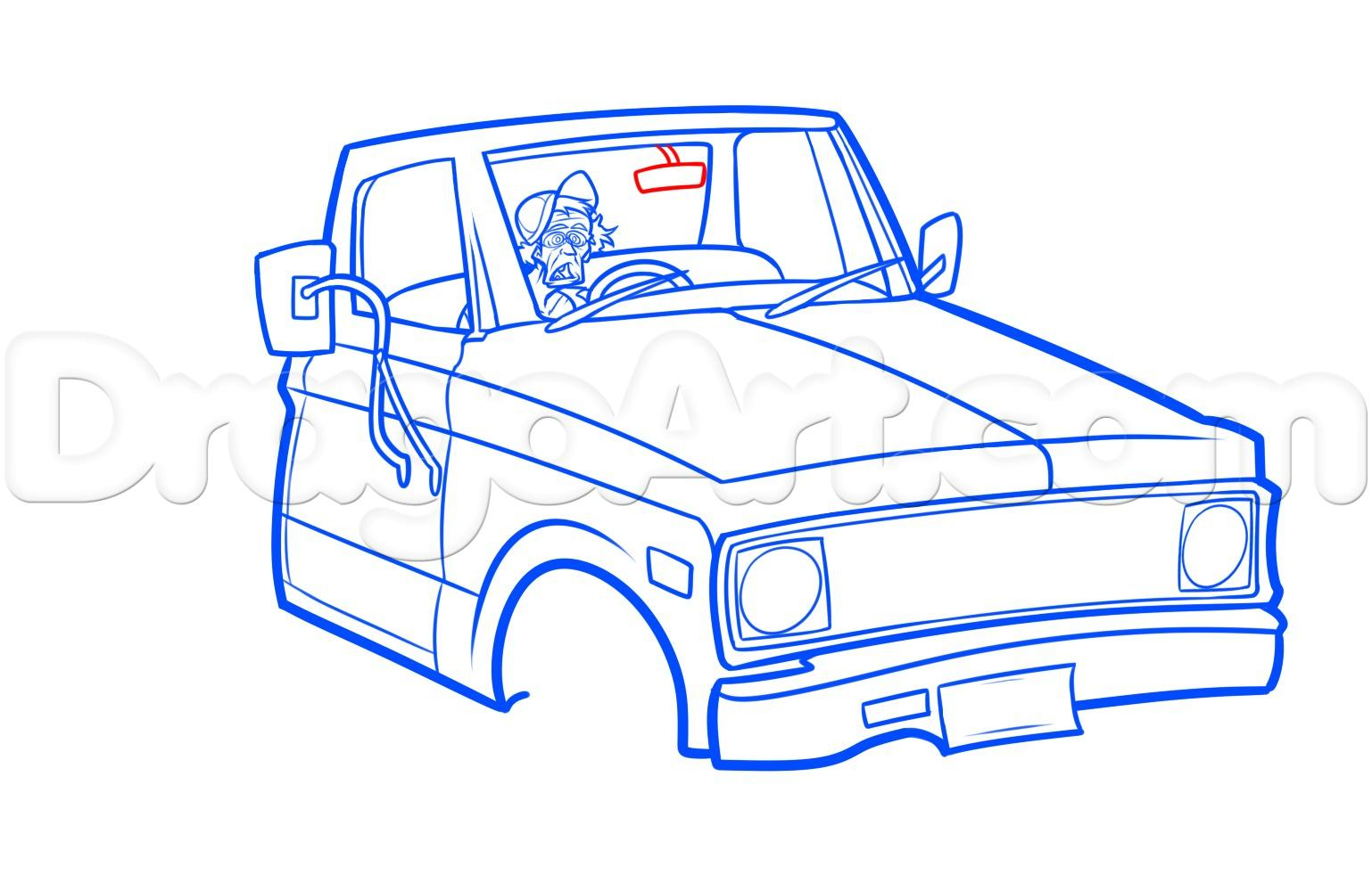 1538x1000 Chevy Truck Drawing Old Chevy Pickup Drawing Tutorial, Stepstep